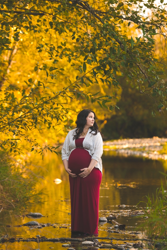 Pregnant Mother with Seattle Maternity Photographer